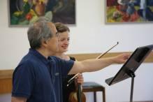 """Vivace Vilnius"" masterclass. With violinist Lynn Chang, Vilnius, Lithuania, 2015."