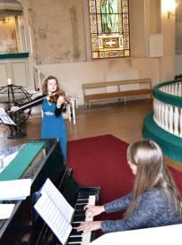 Recital with pianist Elīna Gaile at Tukums Ev. Lutheran church, Latvia, 2015.