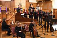 """Concert with """"Joyful Noyse"""", baroque ensemble in residence in Hancock Church, Lexington, USA, 2015."""