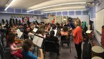 Orchestra rehearsal of El Sistema Somerville, USA, 2015.