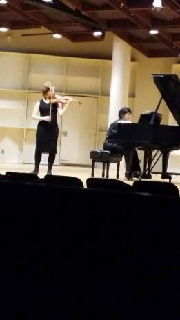 Boston University Concert Hall, 2015. With pianist Sintija Stūre. Boston, USA.