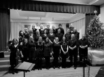 With Boston Latvian choir after a Christmas concert, Boston, USA, 2015.