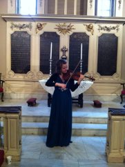 Solo recital at King's Chapel, Boston, USA, 2015.