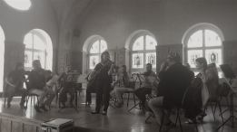 Rehearsal with Klaipeda Chamber orchestra, Lithuania, 2012.