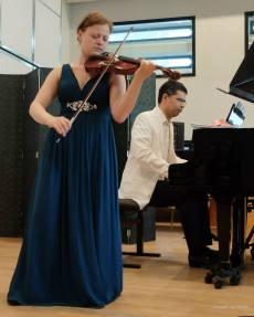 Recital at Codarts with pianist Roderigo Robles de Medina, Rotterdam, the Netherlands, 2013.