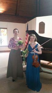 After a recital in Philadelphia with pianist Sintija Stūre, USA, 2015.