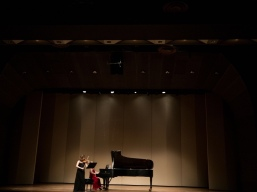 With pianist Anna Arazi at BU Tsai Performance Center, Boston, USA, 2016.