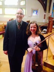 With Mark Morgan, Music Director of Hancock Church, Lexington, MA, USA, 2016.