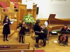 Performance at Hancock Church, Lexington, USA, 2014.
