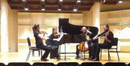 String Quartet performance at Boston University CFA Concert hall, 2013, USA.
