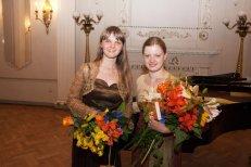 "At the Riga Latvian Society ""Līgo hall"" with pianist Elīna Gaile, Latvia, 2010."