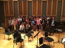 Recording session in WGBH studio, Boston, USA, 2016.