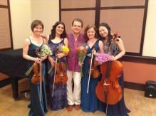 MIT Killian Hall, 2014, USA. Together with New England String Quartet and composer Igor Iwanek.