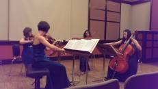 MIT Killian Hall, Boston, MA, 2014. With New England String Quartet.
