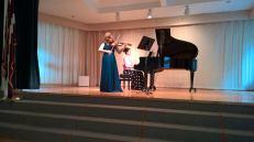 With pianist Sintija Stūre, Boston, USA, 2015